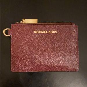 Michael Kors Mini Wallet w/ Key Ring. I.D Case